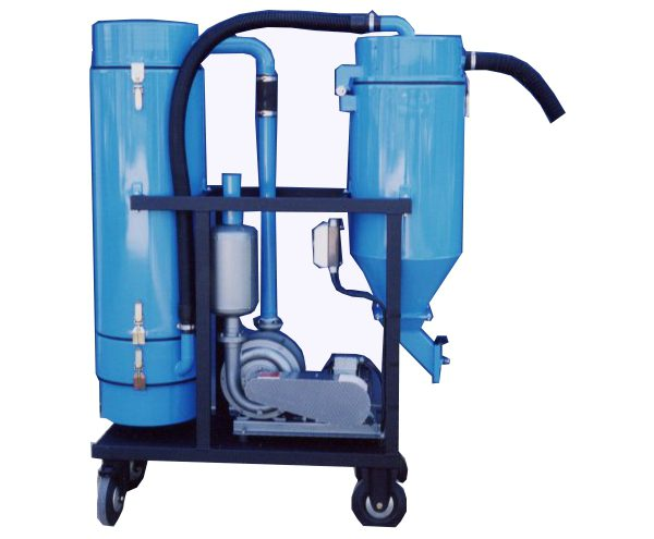 Aspirateur pour flux de soudure par turbine centrifuge à effet cyclone et filtration des poussières